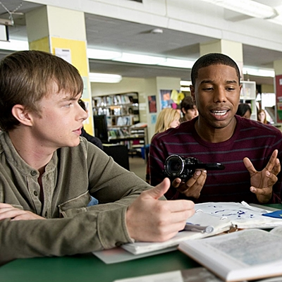 DF-08589_R_CROP - High school students Andrew (Dane DeHaan, left), Steve (Michael B. Jordan) and Matt (Alex Russell) become inseparable friends when they attain incredible powers.
