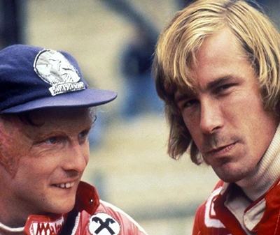 Niki Lauda et James Hunt