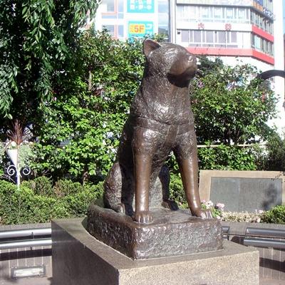 statue d'hachiko place de la gare de Shibuya