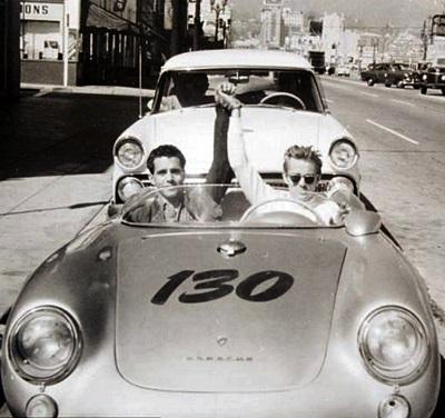 le jour du décès de James Dean dans sa Porsche