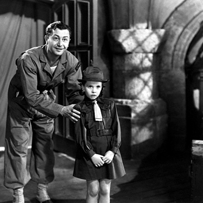 Robert Young and Margaret O'Brien in The Canterville Ghost