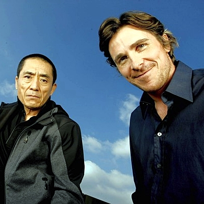 Director Zhang Yimou, left, and actor Christian Bale
