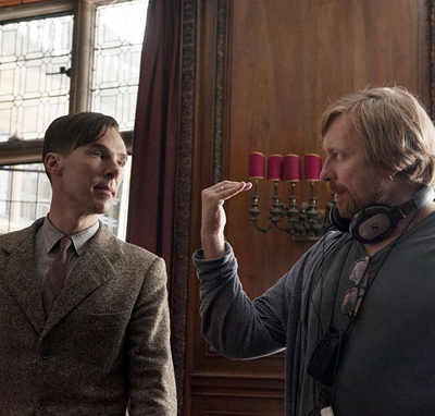 (L-R) BENEDICT CUMBERBATCH and Director MORTEN TYLDUM on set of THE IMITATION GAME