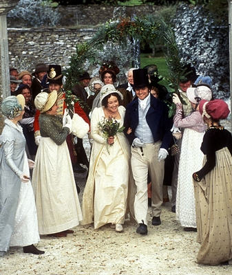 Colin Firth (Darcy) et Jennifer Ehle (Elizabeth)