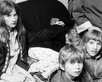 la famille Hodgson en 1977