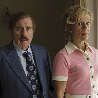The Enfield Haunting Sky Living Episode 1 Timothy Spall as Maurice Grosse and Juliet Stevenson as Betty Grosse.