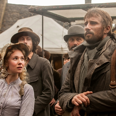 "Juno Temple as ""Fanny"" and Matthias Schoenaerts as Gabriel"" in FAR FROM THE MADDING CROWD."