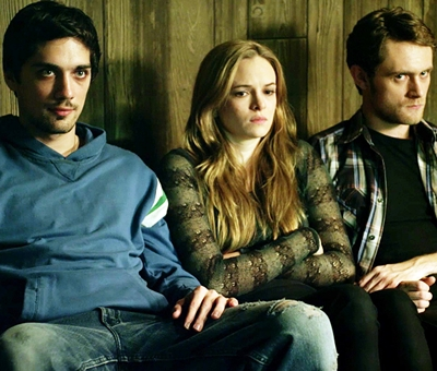 (l to r) George Finn as Jasper, Danielle Panabaker as Callie and Matt O'Leary as Finn in a scene from TIME LAPSE, directed by Bradley King.