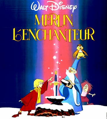 MERLIN L'ENCHANTEUR -THE SWORD IN THE STONE .