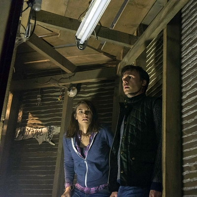 (L-R) LAUREN COHAN and RUPERT EVANS star in THE BOY