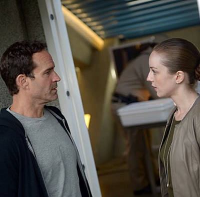 WAYWARD PINES: L-R: Jason Patric and Kacey Rohl