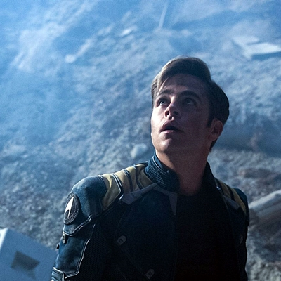 Chris Pine plays Kirk in Star Trek Beyond